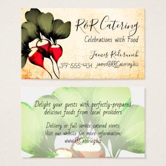 ラディッシュの料理用のシェフのケイタリングビジネスカード 名刺