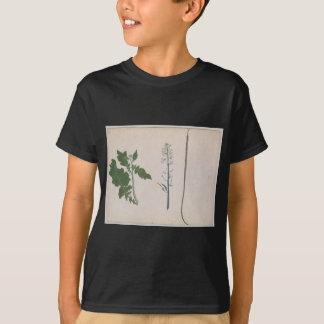 ラディッシュ植物、種および花 Tシャツ