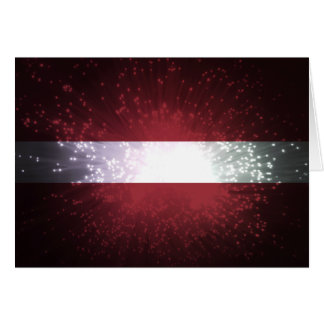 ラトビアの旗の花火 カード