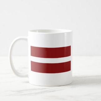 ラトビアの旗の~の地図のマグ コーヒーマグカップ