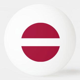 ラトビアの旗 卓球ボール