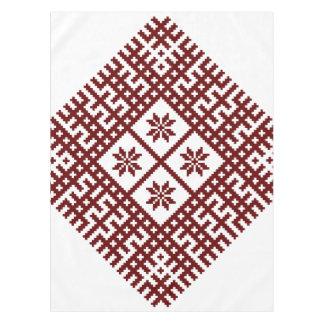ラトビアの記号のモチーフのデザインAuseklis テーブルクロス