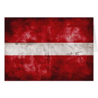 ラトビアの風化させた旗 カード