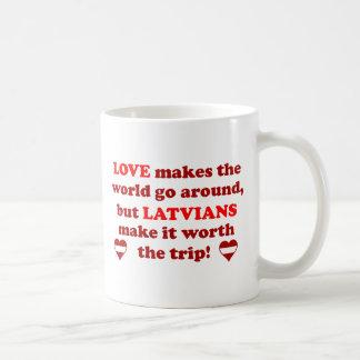 ラトビア愛 コーヒーマグカップ