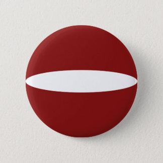 ラトビアFisheyeの旗ボタン 5.7cm 丸型バッジ