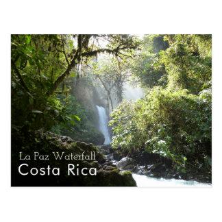 ラパスの滝、Vara Blancaのコスタリカの郵便はがき ポストカード