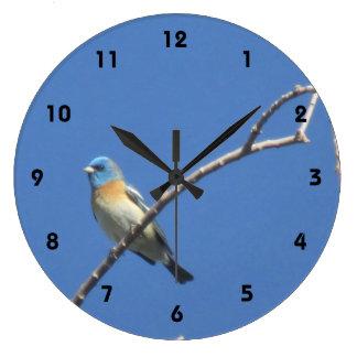 ラピスラズリの旗布 ラージ壁時計