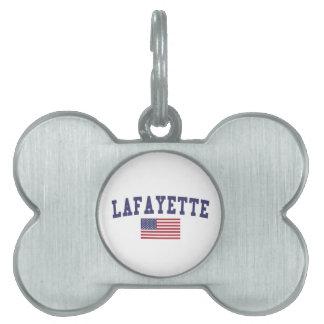 ラファイエットのLA米国の旗 ペットネームタグ
