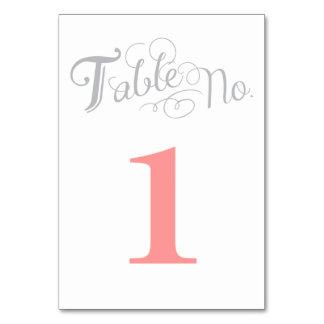 ラブストーリーのテーブル数カード カード