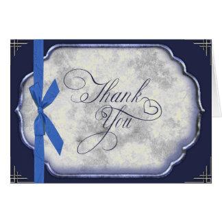 ラブストーリーの青い結婚式は感謝していしています ノートカード