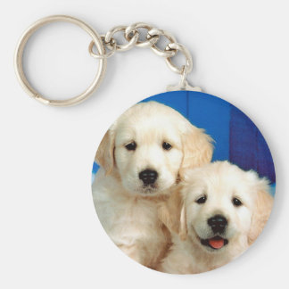 ラブラドルの2匹の子犬 キーホルダー