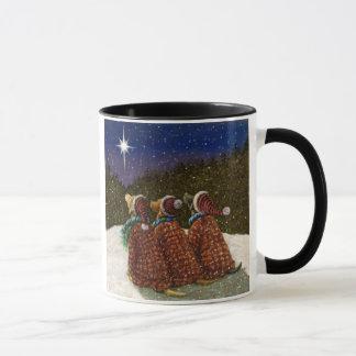 ラブラドル・レトリーバー犬のクリスマスのマグ マグカップ