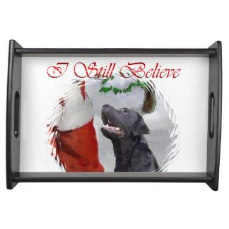 ラブラドル・レトリーバー犬のクリスマス トレー