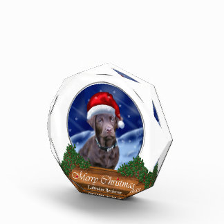 ラブラドル・レトリーバー犬のクリスマス 表彰盾