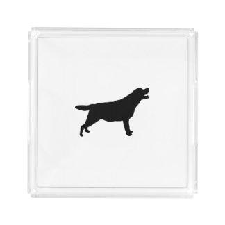 ラブラドル・レトリーバー犬のシルエット愛犬 アクリルトレー