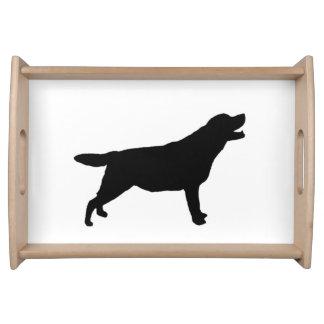 ラブラドル・レトリーバー犬のシルエット愛犬 トレー