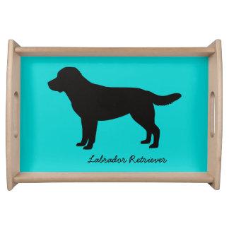 ラブラドル・レトリーバー犬のトレイ トレー