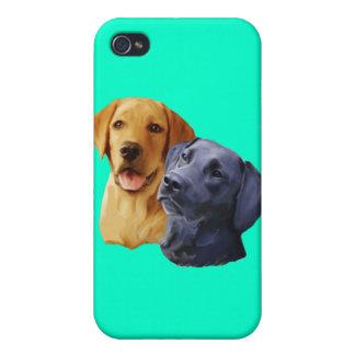 ラブラドル・レトリーバー犬のポートレート iPhone 4 ケース