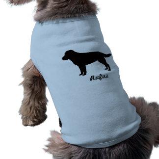 ラブラドル・レトリーバー犬の名前入りな小犬のワイシャツ ペット服