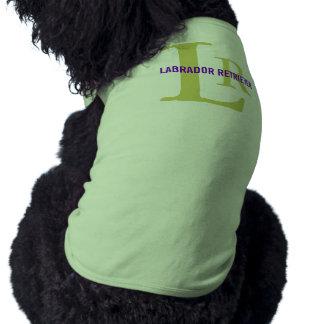 ラブラドル・レトリーバー犬の品種モノグラムのデザイン ペット服