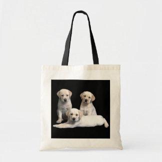 ラブラドル・レトリーバー犬の子犬のトートバック トートバッグ