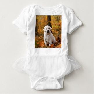 ラブラドル・レトリーバー犬の子犬 ベビーボディスーツ