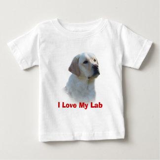 ラブラドル・レトリーバー犬の幼児のTシャツ ベビーTシャツ