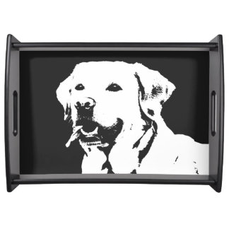 ラブラドル・レトリーバー犬の憂うつの香水のサービングの皿 トレー