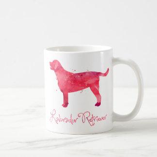 ラブラドル・レトリーバー犬の水彩画のデザイン コーヒーマグカップ