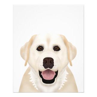 ラブラドル・レトリーバー犬の漫画 チラシ