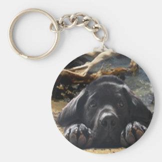 ラブラドル・レトリーバー犬のKeychainのビーチ キーホルダー