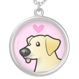 ラブラドル・レトリーバー犬愛 シルバープレートネックレス