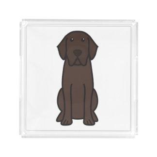 ラブラドル・レトリーバー犬犬の漫画 アクリルトレー