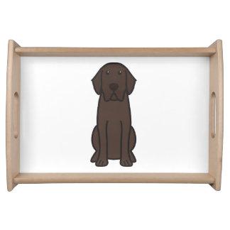 ラブラドル・レトリーバー犬犬の漫画 トレー