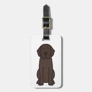 ラブラドル・レトリーバー犬犬の漫画 ラゲッジタグ