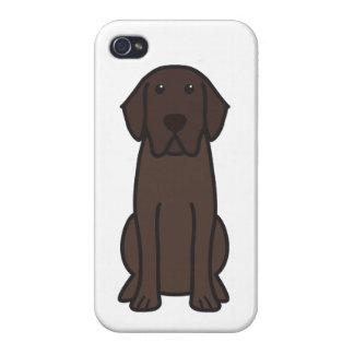 ラブラドル・レトリーバー犬犬の漫画 iPhone 4 カバー