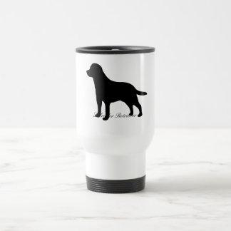 ラブラドル・レトリーバー犬犬の黒のシルエットのタンブラー トラベルマグ
