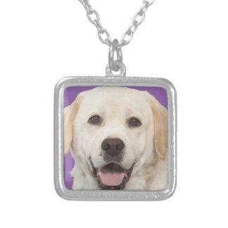ラブラドル・レトリーバー犬1 シルバープレートネックレス