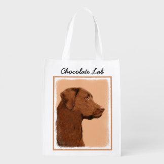 ラブラドル・レトリーバー犬(チョコレート) エコバッグ