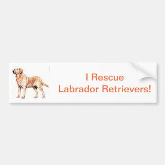 ラブラドル・レトリーバー犬 バンパーステッカー