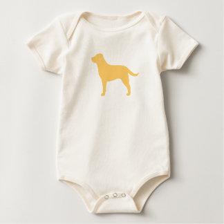 ラブラドル・レトリーバー犬(黄色) ベビーボディスーツ