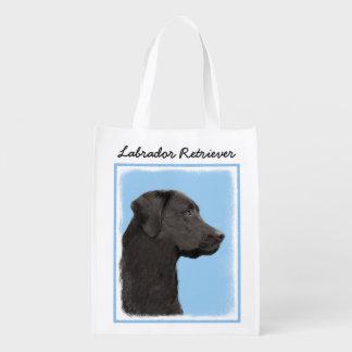 ラブラドル・レトリーバー犬(黒) エコバッグ