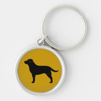 ラブラドル・レトリーバー犬(黒) キーホルダー