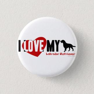 ラブラドル・レトリーバー犬 3.2CM 丸型バッジ