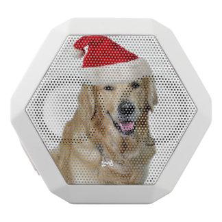 ラブラドールのクリスマスサンタクロース犬サンタ犬ペット ホワイトBluetoothスピーカー