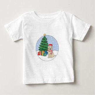 ラブラドールのクリスマス ベビーTシャツ