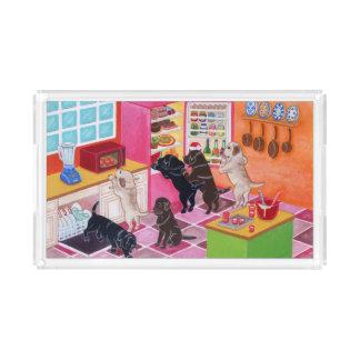 ラブラドールの台所パーティの絵を描くこと アクリルトレー