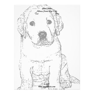 ラブラドールの子犬 レターヘッド