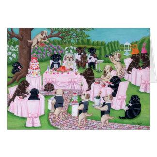 ラブラドールの結婚式 カード