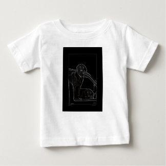 ラブラドールの輪郭はTをからかいます ベビーTシャツ